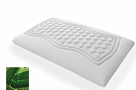 Aloe Vera Medium Firm Memory Foam Pillow (low)